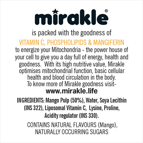 Added Sugar Mirakle Drink Product Details