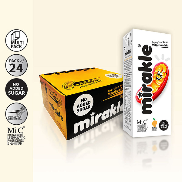 Best Vitamin C Supplement Mirakle Drink 24 Pack No Added Sugar