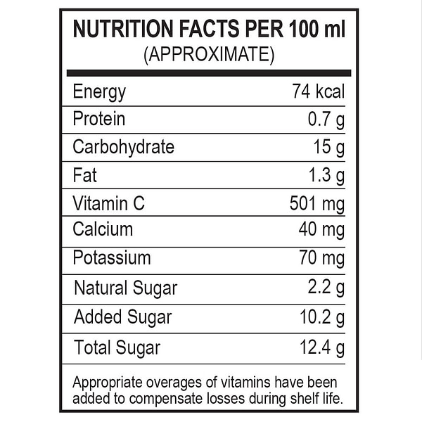 Mirakle Drink - Nutrition Facts
