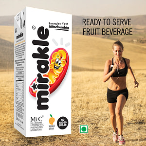 Mirakle Drink With No Added Sugar - Ready To Serve Fruit Beverage