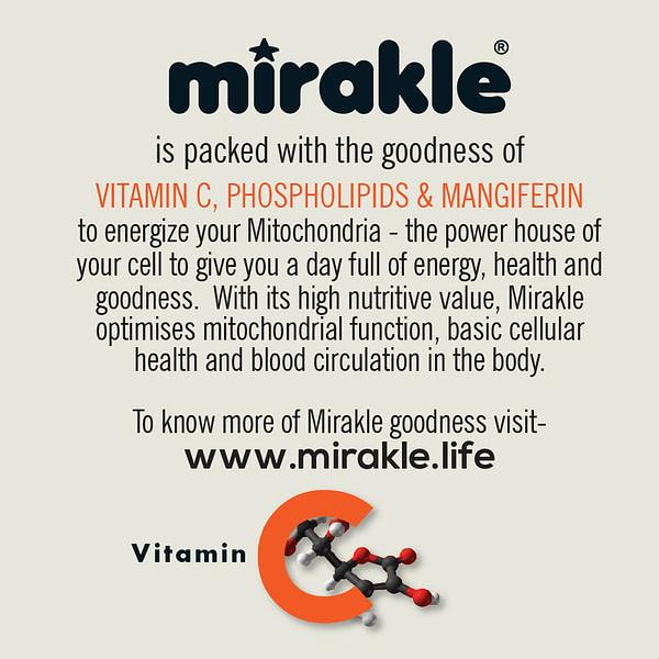 Mirakle Drink No Added Sugar Vitamin C Supplement Energy Drink