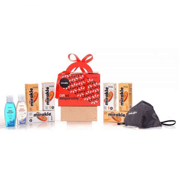 Mirakle Gift Pack - Vitamin C Drink - Sanitizer and Mask